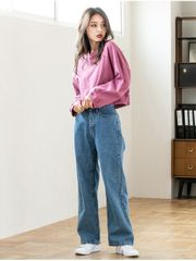 Pants for women. picture of denim trousers・jeans (fif0119f0091)
